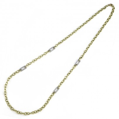 Diamond chain necklace    192D/ 1.36Cts        18Kyw