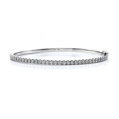 Diamond Bangle (half-way) 40D/.80ct 18K