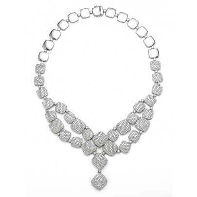 Diamond Medalion Necklace 1519D/15.10cts 18K