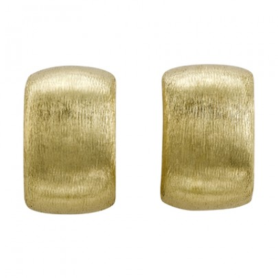Hand-Etched Gold Earrings 18k