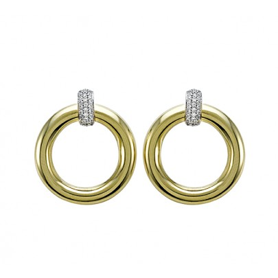 Gold & Diamond Earrings 62D/.32ct 18K