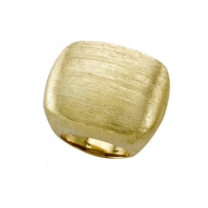 Hand-Etched Gold Ring (27.5mm) 18k