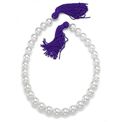 White Round South Sea Pearl Strand