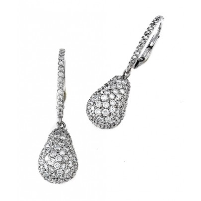 Diamond Drop Earrings 266D/4.55cts 18k