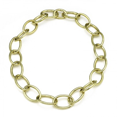 "Link Chain Necklace        21"" 18k"