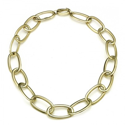 Gold Link Necklace   14k  18.5""