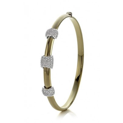 Bangle  Bracelet w/Dia 183D/.95ct 14k