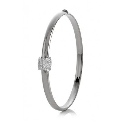 Bangle  Bracelet w/Dia 77D/.39ct 14k
