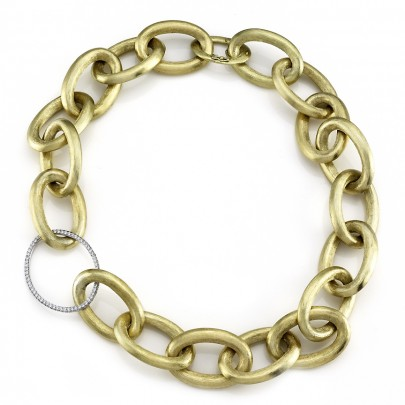 """Yellow Gold Necklace 192D/3.13cts  20"""" 18k"""