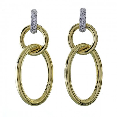 Double Drop Earrings 68D/.32ct 18k