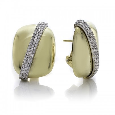 Rectangle Earrings   146D/.75ct  18k