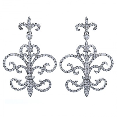 Diamond Drop Earring  300D/1.92cts   18k