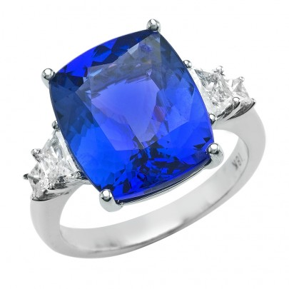 Sapphire Ring 5.63cts w/ Dia 2D/.41ct   18k